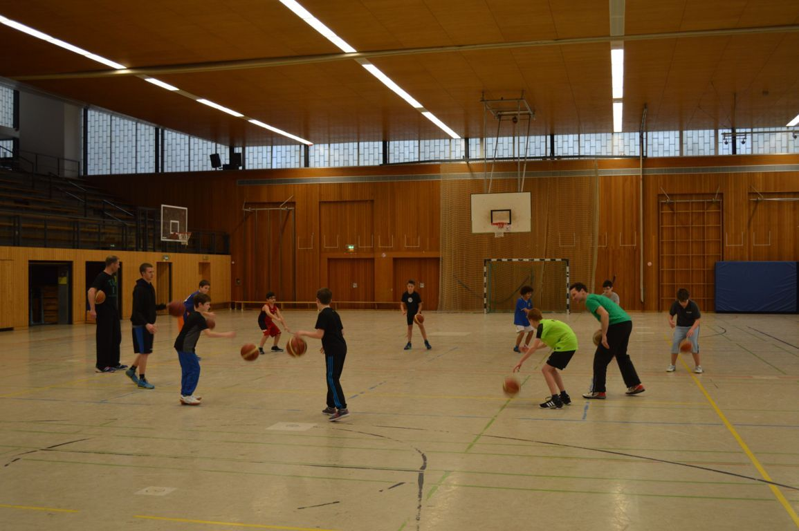 Training in der Saar-Mosel-Halle